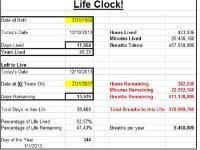 Life Clock! Start with the End in Mind