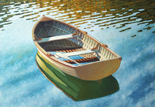 Row Boat With an empty rowboat